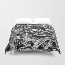 Striking Silver Duvet Cover