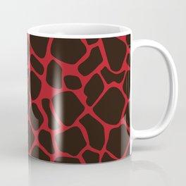 Metallic Red Black Leopard Print Animal Skin Patterns Coffee Mug