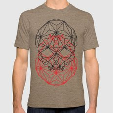 geometric Mens Fitted Tee SMALL Tri-Coffee