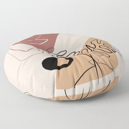 Bohemian still life and abstract Floor Pillow