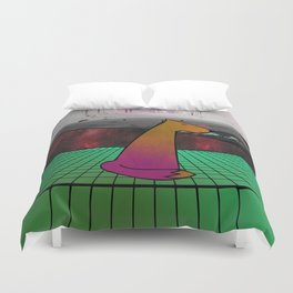 Time Pup Duvet Cover