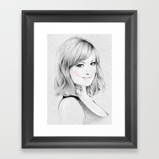 Olivia Wilde portrait Framed Art Print