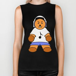 TEDDY BEAR LOVE MUSIC Biker Tank