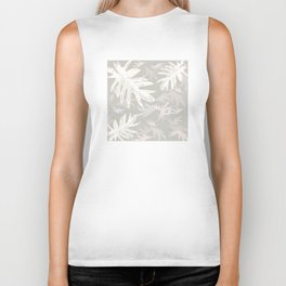 Trio palm leaves White sand brown autumn fall tropical pattern , society6 Biker Tank