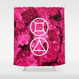 Garnet Candy Gem Shower Curtain