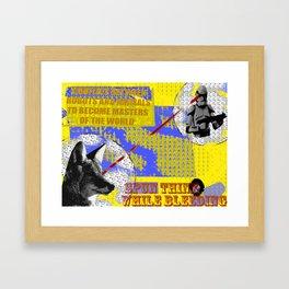 animal vs robot Framed Art Print