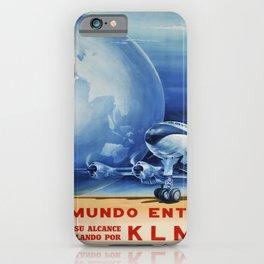 cartaz klm el mundo entero a su alcance iPhone Case