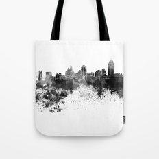 Cincinnati skyline in black watercolor Tote Bag
