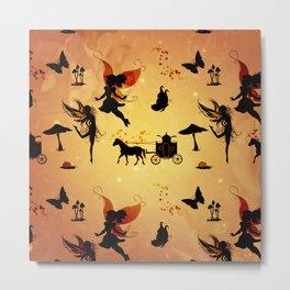 Cute fairy pattern Metal Print