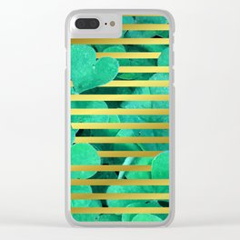 Clover and Stripes Geometric Illustration Clear iPhone Case