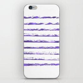 Ultraviolet brush strokes iPhone Skin