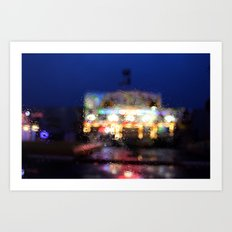 Bright lights. Art Print
