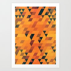 Gold Pattern Art Print