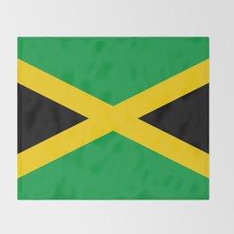 Jamaican Flag Throw Blanket