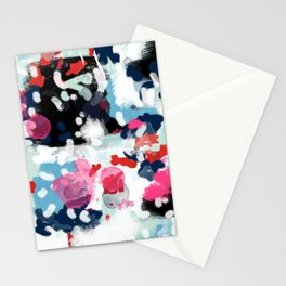 Paige - abstract painting hipster home decor trendy color palette art gifts Stationery Cards