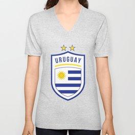 Uruguay Football Unisex V-Neck