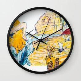 X voyages de Zed (toile 6 - série 1) Wall Clock