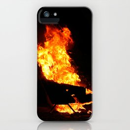 Burning couch  iPhone Case