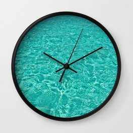 Aqua Heaven Wall Clock