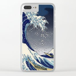 Great Wave: Kanagawa Night Clear iPhone Case