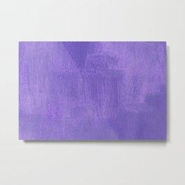 Violet Painted Wall Texture Metal Print