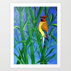 Bamboo and bird Art Print