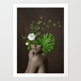 Tropical Girl 1 Art Print