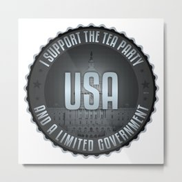I Support The Tea Party Metal Print