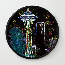 Sychedelic Seattle Wall Clock