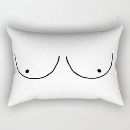 b&w boobs Rectangular Pillow