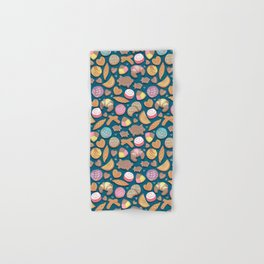 Mexican Sweet Bakery Frenzy // turquoise background // pastel colors pan dulce Hand & Bath Towel