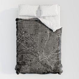 Dallas Black Map Comforters