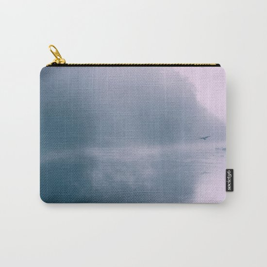 Pastel Serenity - Misty River Scene Carry-All Pouch