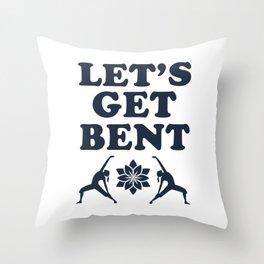 Let's Get Bent Yoga Design Throw Pillow