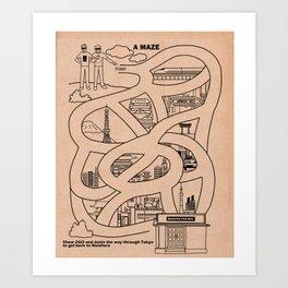 Tokyo Maze Art Print