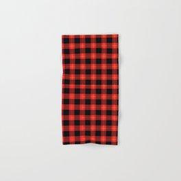 Red Buffalo Plaid Flannel Pattern Hand & Bath Towel