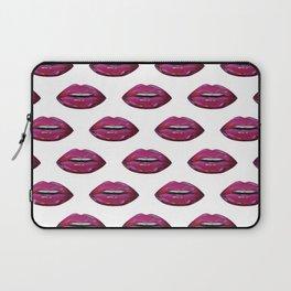 Lip pattern lip sync art print pattern Laptop Sleeve