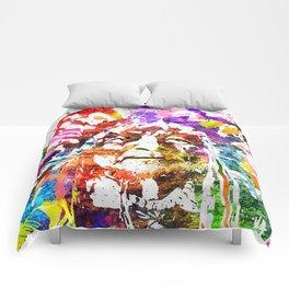 Native American Grunge Watercolor Comforters