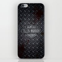 sons of anarchy iPhone & iPod Skins featuring SAMCRO Teller-Morrow of Charming (Sons of Anarchy / Harley-Davidson) by HuckBlade