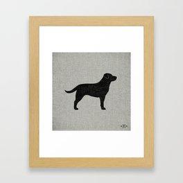 Black Labrador Retriever Silhouette Framed Art Print