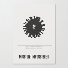 Mission : Impossible II - minimal poster Canvas Print