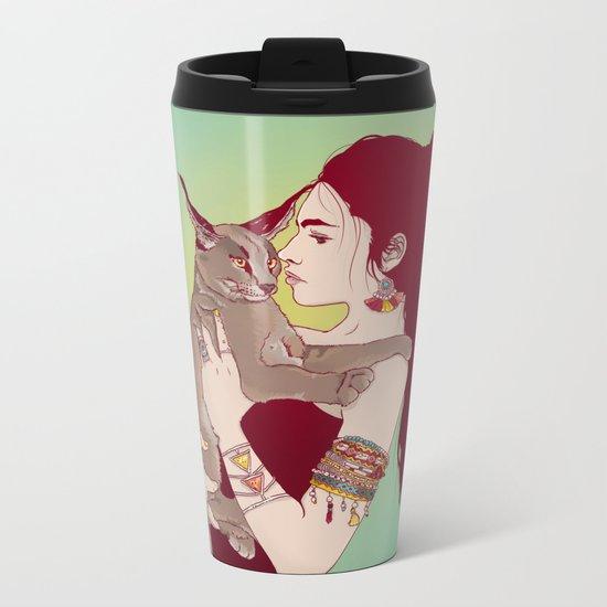 Wildcat Lady Metal Travel Mug