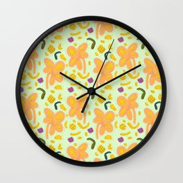 Candy flowers and easter pattern - light Wall Clock