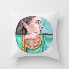 archery princess Throw Pillow