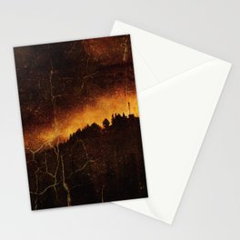 Burning City Stationery Cards