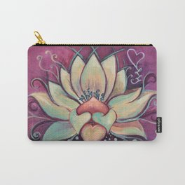 Blooming Lotus Carry-All Pouch