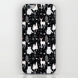 Merry Christmas-Simple X-mas Winter Forest Animals-Mix and Match with Simplicity of Life iPhone Skin