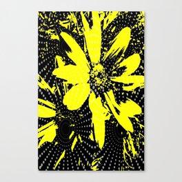 Spiraled Daisies Canvas Print