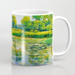 Václav Radimský (1867-1946) Water Lilies Impressionist Landscape Painting Bright Colors Oil Coffee Mug