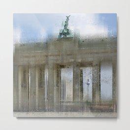 City-Art BERLIN Brandenburg Gate Metal Print